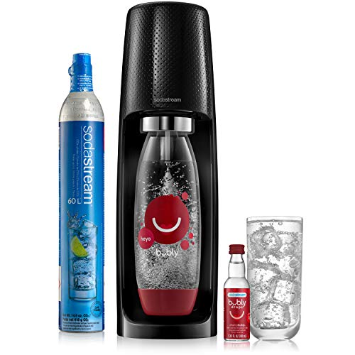 sodastream x Sparkling Water Maker Limited Edition Bundle (Black) Fizzi Kit With bubly Drops, 1 Liter