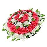 F Fityle Chrysanthème de Soie Couronne de Fleurs Artificielle Décor Funéraire Enterrement - 1