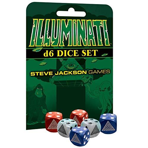 Steve Jackson Games 5928 - Set di 6 accessori illuminati D6