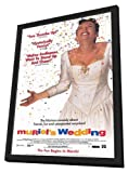 ArtFuzz Muriel's Wedding 11 x 17 Movie Poster - Style B - in Deluxe Wood Frame