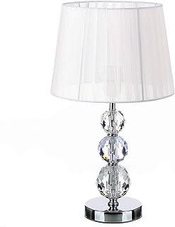 Lámpara de sobremesa árabe blanca de metal para dormitorio
