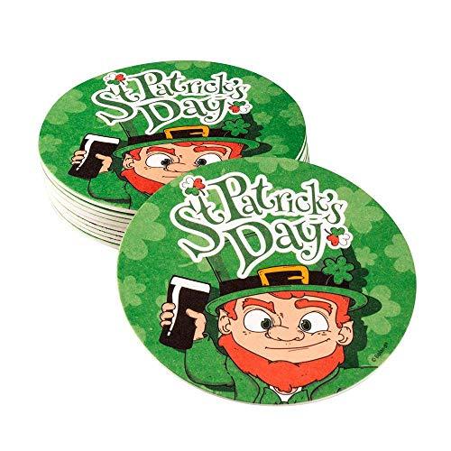 Boland 44905 - Set 10 Sottobicchieri St. Patrick's Day, 10 cm