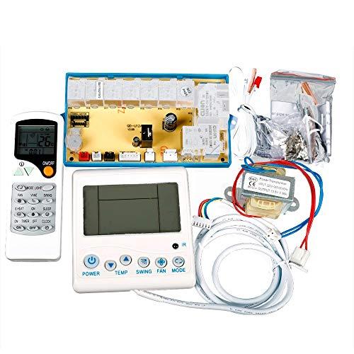 elinke - Panel de Control de Aire Acondicionado para Ordenador, con Pantalla LCD retroiluminada, Sistema de Control Universal QD-U12A A/C