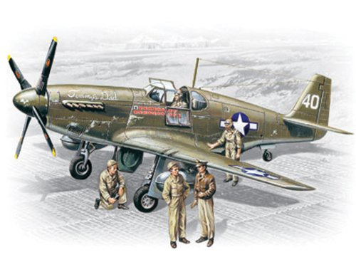 ICM Models P-51B Mustang with Crew Building Kit