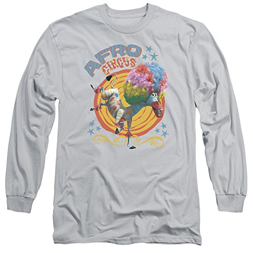 Madagascar - T-shirt manches longues Afro Circus Hommes, XX-Large, Silver