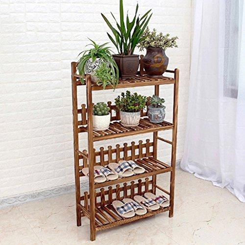 LJ Quatre couches Style de plancher en bois massif Salon Balcon Pot de fleur