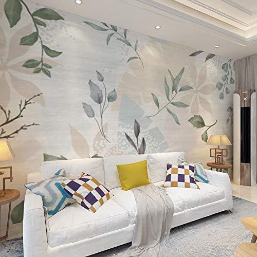 Nahtloses Wandverkleidungswohnzimmersofahintergrundwandschlafzimmer-Esszimmerwandgemälde Des Handgemalten Tapetenbaums Des Nordens Hd-430 * 300Cm