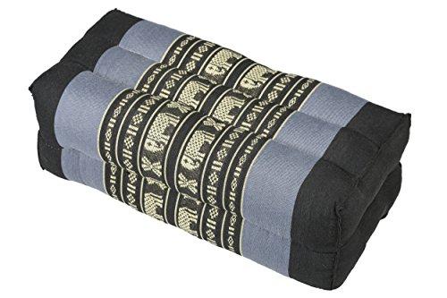 Handelsturm Bloque de Yoga para la meditación (35x15x10 cm, cojín de Soporte con Relleno de kapok), diseño Tradicional azúl