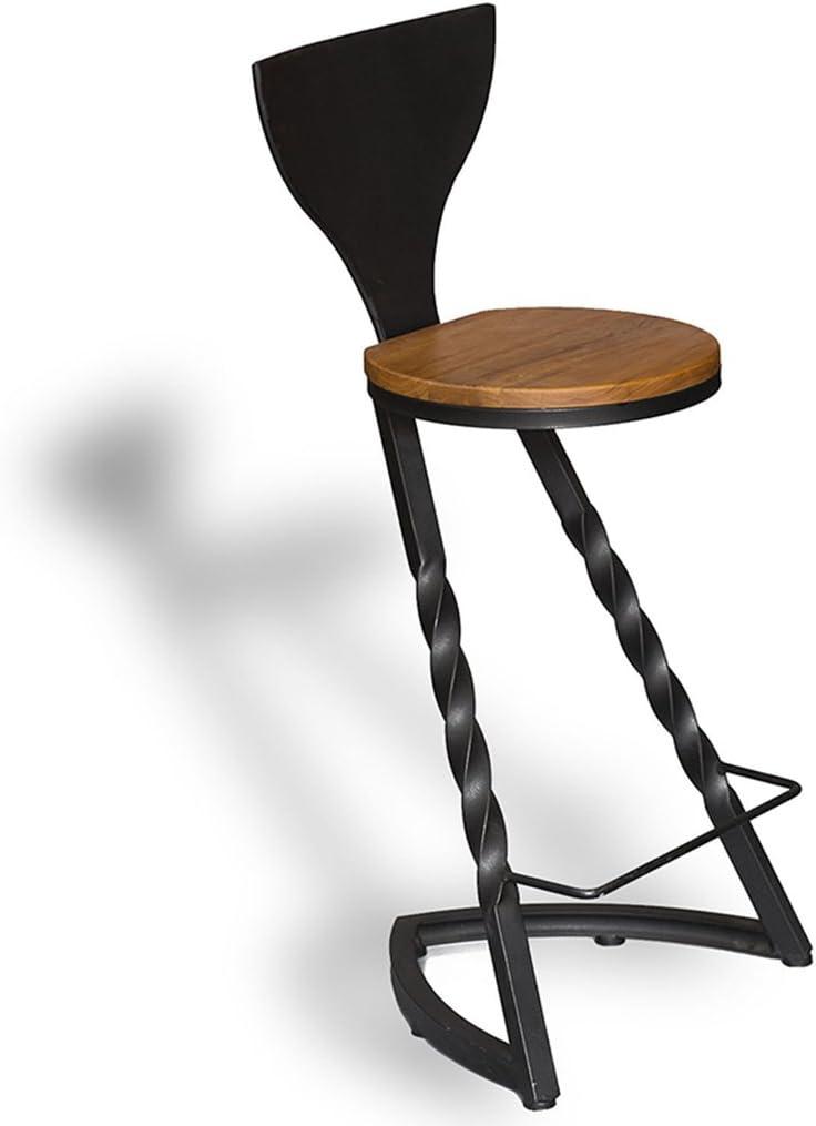 LIU RUOXI Round Seat Bar Stool,Counter Height Metal Bar Stool,Dining Kitchen Pub Chairs Family Furniture,3842100Cm