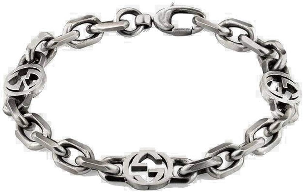 Gucci,bracciale per donna in argento 925 con una finitura invecchiata YBA620798001019