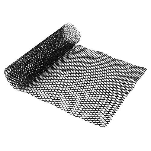 Fydun Malla de rejilla de coche 8x16mm Aleación de aluminio Rejilla de malla de rejilla automática Body bumper Rhombic Grill Universal Negro