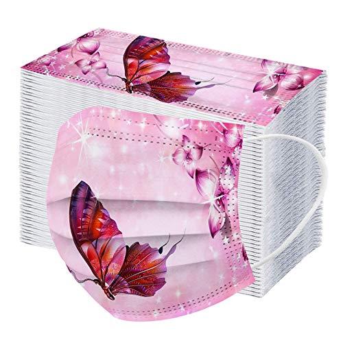 RUITOTP 10/20/50/100pc Unisex Erwachsenen Mode Universal Schal 3 Schicht Schmetterling gedruckt niedlich elastische Nereloop Schal -21123-5