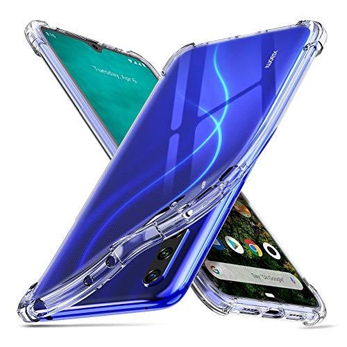 ORNARTO Hülle für Mi A3, Transparent Soft TPU Silikon Handyhülle Vier Ecke Kante Stoßdämpfung Design Kratzfest Durchsichtige Schutzhülle für Xiaomi Mi A3(2019) 6.1 Zoll Klar