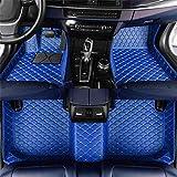 Alfombrillas de coche para V-W Golf 5/6/7, protección para todo tipo de clima, piel impermeable, lavable, antideslizante, antiincrustante, para los pies, accesorios, cobertura completa (azul)
