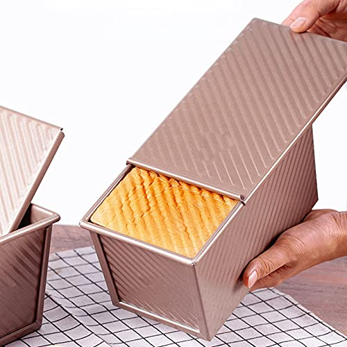Nimokong Molde para pan con tapa,Bandeja horno,DE MOLDE Y TOSTADAS MOLDE CON,Para hornear rápidamente,Para Pan Hacer Pasteles y Tostadas