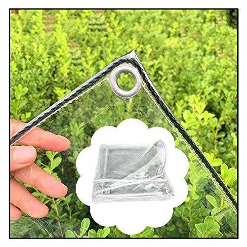 NEVY Lona Transparente Resistente, Ojales Reforzados PVC Transparente Cubiertas De Suelo Impermeables para Carpa con Dosel, Barco (Color : Clear, Size : 3X4M)