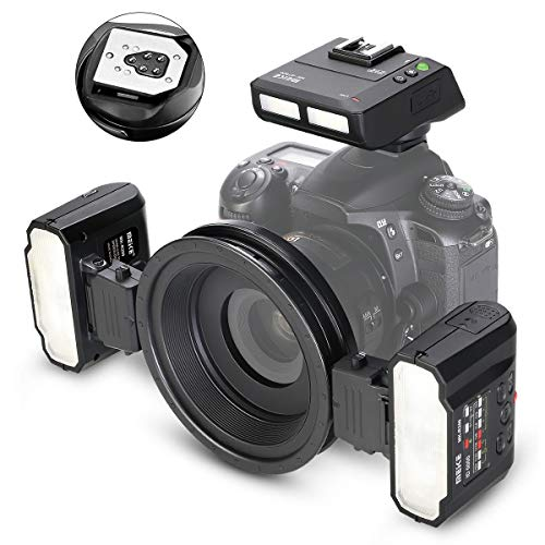 MEIKE MT24II-C 2.4 Wireless Macro Twin Flash Lite for Canon EF-Mount DSLR Cameras Such as T5i T4i T3i T3 T2i T1i XSi XTi SL1, EOS ect