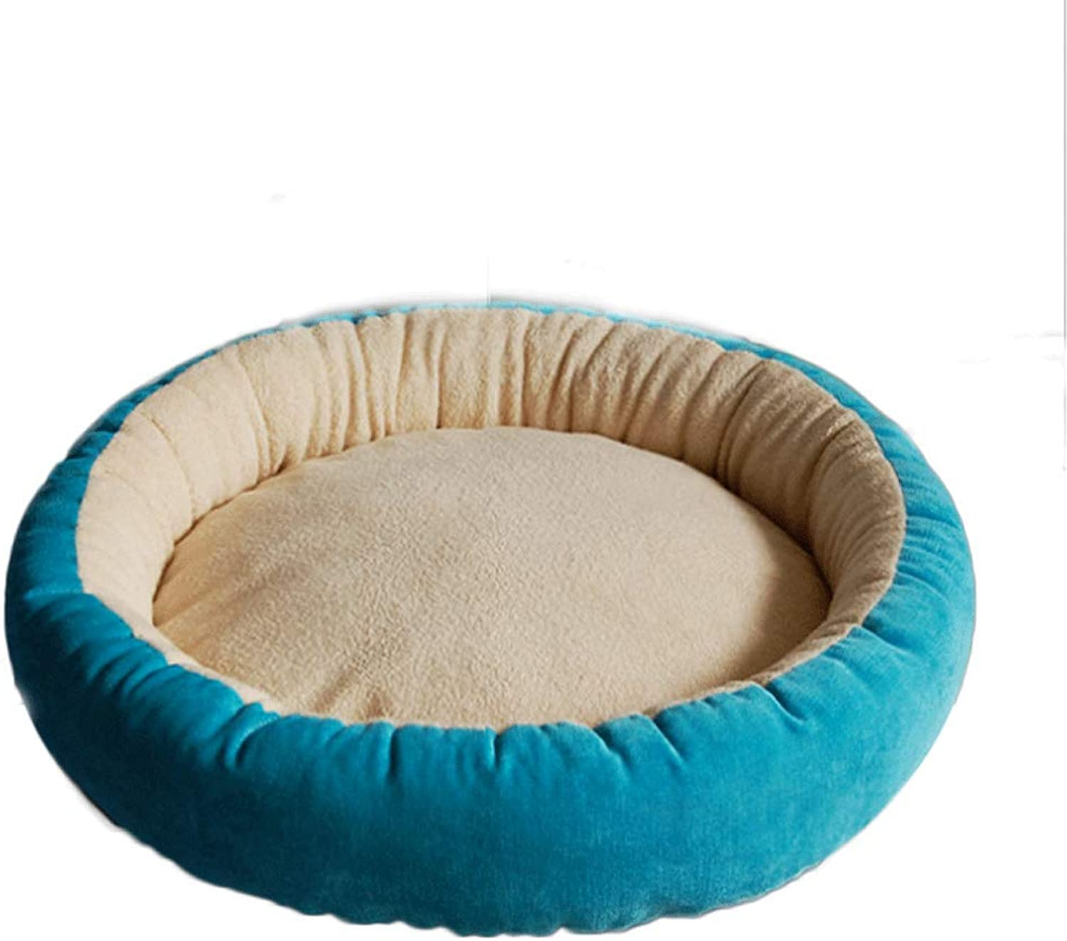 Donut Styling Cat Litter Kennel Pet Mat Round (color   bluee, Size   S)