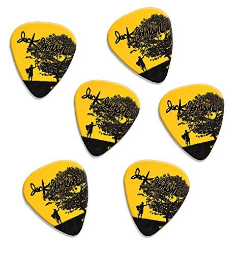 Jack Johnson Set Of 6 Loose Guitarra Púas (F1)