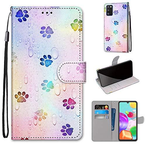 DICASI Handyhülle für Samsung Galaxy A41 Hülle, Premium Leder Magnetisch Tasche Hülle Kartensteckplätzen & Standfunktion Schutzhülle Kompatibel für Samsung Galaxy A41
