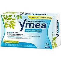 Ymea Vientre Plano | Tratamiento de la Menopausia | Control de Sofocos y Alivia el Hinchazón abdominal| Apto para Uso Prolongado | Sin Estrogenos, Soja o Consevantes| 64 Capsulas | Tratamiento 1 mes