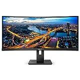 Philips 342B1C/00 - Monitor Curvo 34' para PC UltraWide (2560 x 1080 Pixeles, 75 Hz, AdaptiveSync, Lowblue Mode, Multiview, Altavoces, Power Sensor, VESA, USB-B, DisplayPort, HDMI) Negro