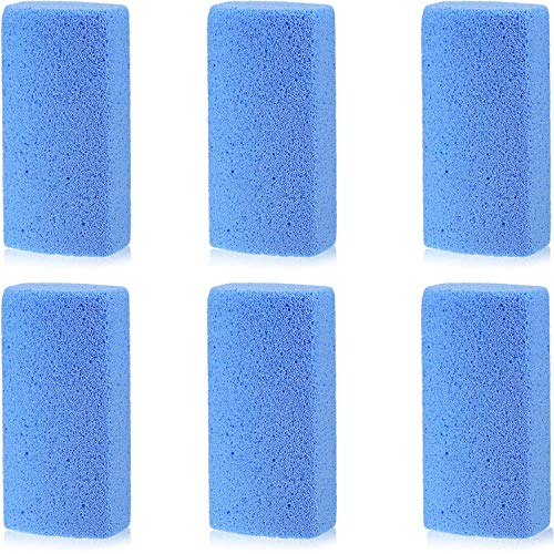 6 Pieces Pet Hair Remover, 4 Inch Pet Hair Stone Pumice Pet Hair Rock for Laundry Furniture and Dog and Cat Hair Remover, Blue