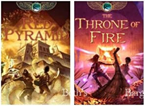 2 Books: The Kane Chronicles Series Set - The Red Pyramid + Throne of Fire (Rick Riordan The Kane Chronicles Set Series, V...