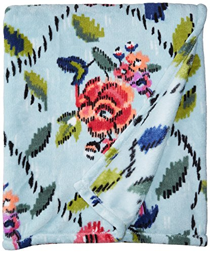Vera Bradley Fleece Plush Throw Blanket, Water Bouquet
