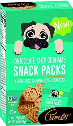 Pamela's Gluten-Free Chocolate Chip Graham Cracker Snack Packs, 1 OZ, 5 Packs/Box (1)