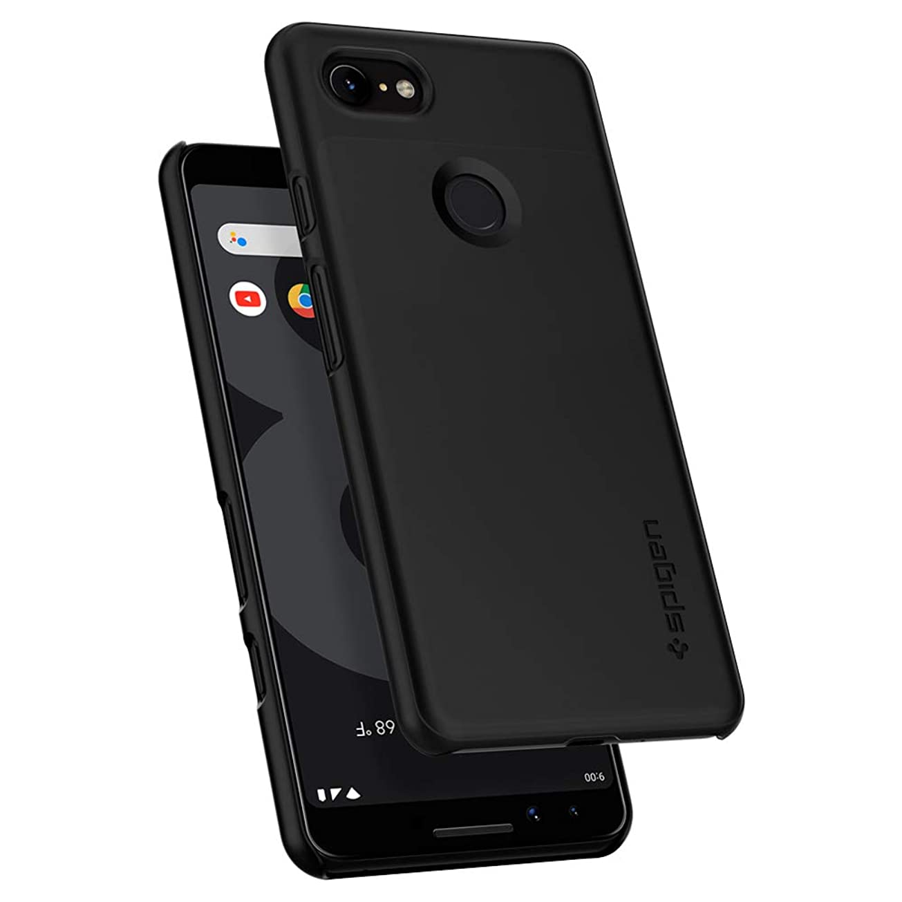 【Spigen】 Google Pixel3 ケース 対応 レンズ保護 超薄型 超軽量 指紋防止 シン?フィット F19CS25038 (ブラック)