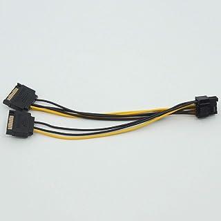 グラフィックボード 15pin SATA 8pin 6+2 8ピンPCIeビデオカード GPUカード 給電用 GEFORCE GTX 電源ケーブル 変換ケーブル (DYX-15P2-8P)