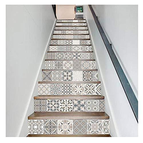 JCCOZ-URG Auto-Adhesivo removible Pegatinas Escalera, Escaleras Decal Pegatinas for Cocina Escaleras Baño, Decoración Escalera Escalera Decal Mural Adhesivos URG