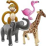 F2/Carpeta 4 aufblasbare XXL-Tiere für eine * SAFARI-PARTY * // mit Affe + Flamingo + Elefant +...