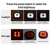 INHDBOX LED Mütze Kappe, Strickmütze mit USB Nachladbare Licht, Beleuchtung und blinkende Warnungs-Arten 8 LED, einfache Installation Vorne Hinten Scheinwerfer-Mütze, Winterwärmer-Strickkappe - 3