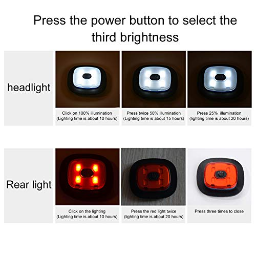 INHDBOX LED Mütze Kappe, Strickmütze mit USB Nachladbare Licht, Beleuchtung und blinkende Warnungs-Arten 8 LED, einfache Installation Vorne Hinten Scheinwerfer-Mütze, Winterwärmer-Strickkappe - 5