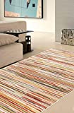 ABC Soave Stripe Tappeto, Multicolore, 120 x 60 cm