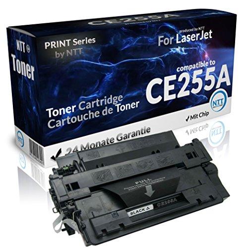 N.T.T.® 1x Kompatibel zu HP CE255A / 55A CE-255A CE 255 A Toner (Black/Schwarz) für HP Laserjet P3010 P3015