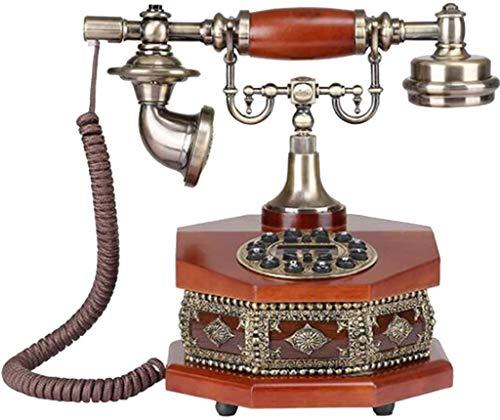 AWAING Telefonos Antiguos Vintage Modelo de teléfono Decorativo Retro Creativo Grande, Estatua de decoración de teléfono Giratorio Vintage Artista estatuilla de teléfono Antiguo Cafe Bar Modelo de