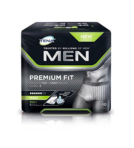 TENA Men Level 4 Premium Fit - Einweg-Unterhosen - Geruchsbinder - Gr. L
