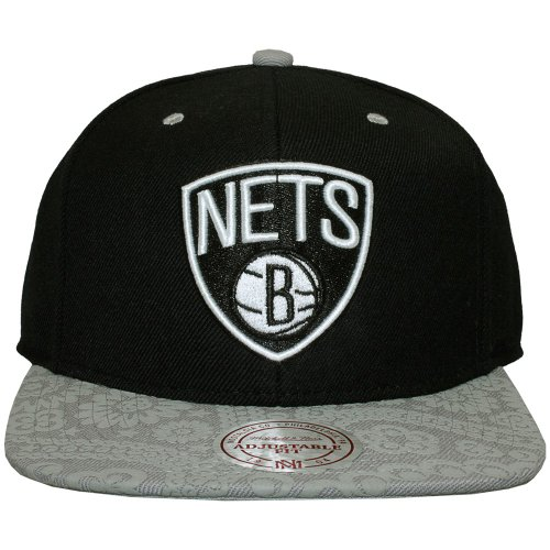 Mitchell And Ness - Casquette Snapback Homme Brooklyn Nets Paisley Print - Black / Grey