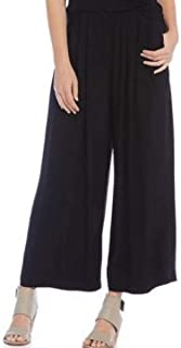 The Icons Silk Crepe Wide Leg Ankle Pants 3X MSRP $298.00 Black