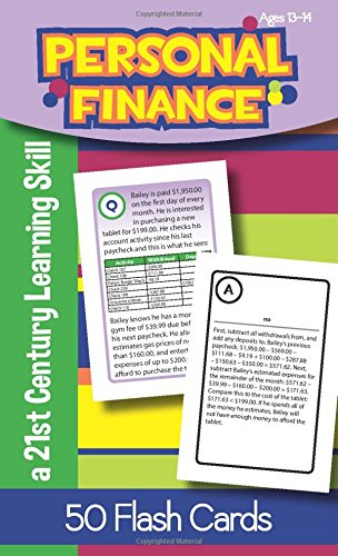 Personal Finance For Ages 13 14 Flash Cards