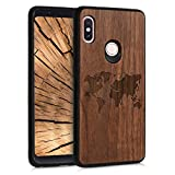 kwmobile Wood Case Compatible with Xiaomi Redmi Note 5