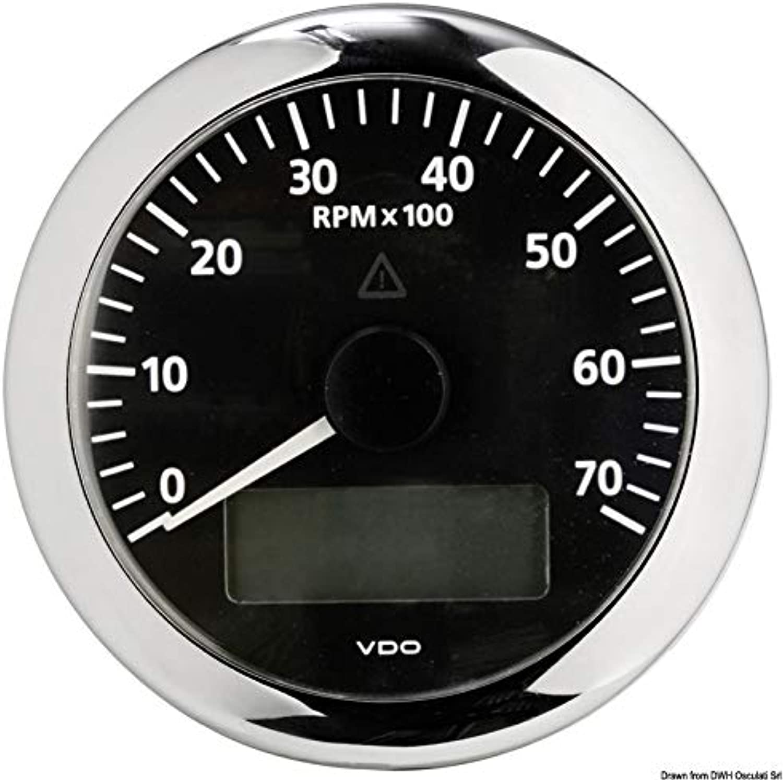 VDO Viewline Tachometer Gauge 7000 RPM Black