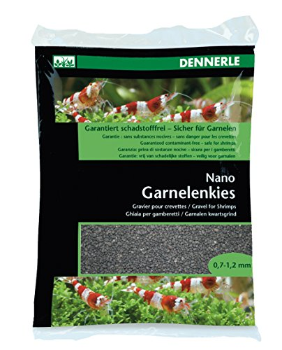 Dennerle Nano gravier crevettes, Noir-Sulawesi (0,7 à 1,2 mm)