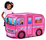 Sunny Days Entertainment Barbie Dream Camper Pop Up Play Tent Pink Indoor Playhouse for Kids Gift for Girls