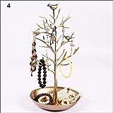 baifeng gioielli display stand uccelli albero forma cremagliera orecchino collana anelli contenitore organizer - 4