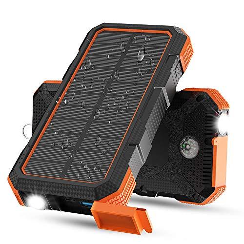 X-DRAGON Batería Solar, 24000mAh Batería Externa de Carga Rápida de 18 W...