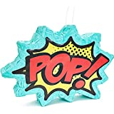 Small Comic Book Action Hero Piñata, Kids Birthday Party Supplies (17 x 11 x 3 In)